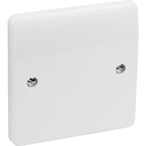MK Blank Plate 1 Gang White