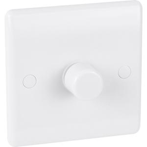 Bg Low Profile Push Dimmer Switch 1 Gang 2 Way 400W