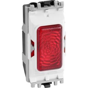 MK Grid Plus Indicator Module Red 200-250V