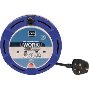 Masterplug 13A Cassette Cable Reel 2 Socket 4m 240V