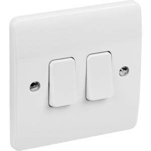 MK Light Switch 2 Gang 2 Way