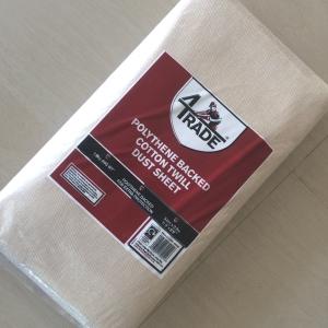 4TRADE New Dust Sheet Cotton Plastic 3.6 x 2.7m