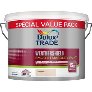Dulux Trade Weathershield Smooth Masonry Magnolia 7.5L