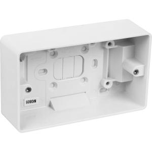 MK Moulded Box 2 Gang 40mm