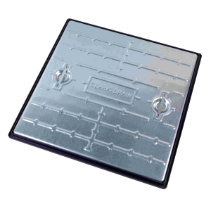 Clark-Drain Manhole Cover and Frame Galvanised Steel 600mm x 600mm 5 Tonne